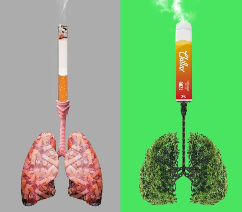 Сигарета и электронка